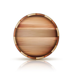 Barrel wooden sign 3d icon set isolated on vector