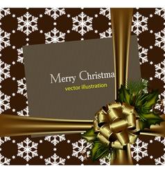 beautiful gold christmas card vector image