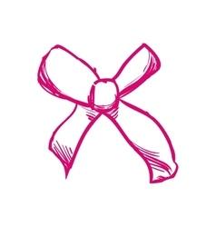 Bowtie icon ribbon design graphic vector