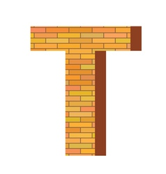 brick letter T vector image vector image
