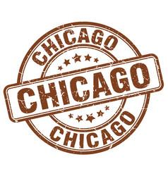 Chicago brown grunge round vintage rubber stamp vector