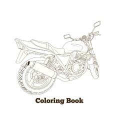 Coloring book motorbike vector