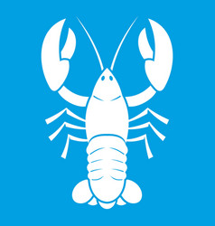 Crawfish icon white vector