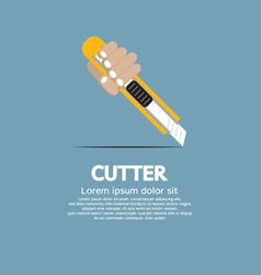 Cutter Knife vector image vector image