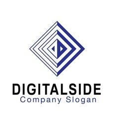 Digital side design vector