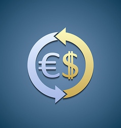 dollar and euro vector image vector image