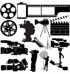 film camera and equipments vector image