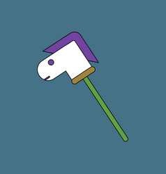 Flat icon design collection stick horse toy vector
