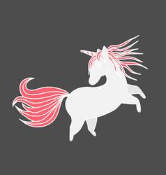 funny unicorn valentine s day design element vector image vector image