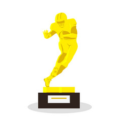 Heisman memorial trophy gold reward vector
