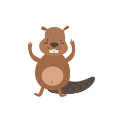Humanized Beaver Greeting vector image