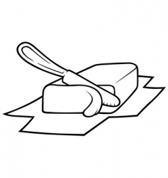 knife cutting butter vector image