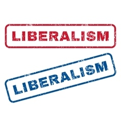Liberalism rubber stamps vector