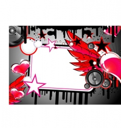 Love and music background vector