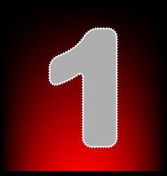 Number 1 sign design template element postage vector