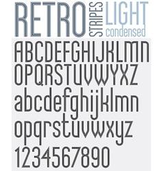 Retro line stripes effect font vector image vector image