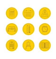 School icon set icons vector image vector image