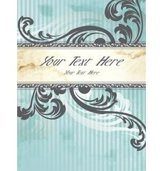 silver victorian vintage banner vector image vector image