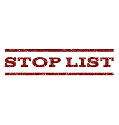 Stop list watermark stamp vector