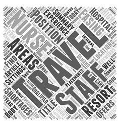 Traveling nurses easing staff shortages word cloud vector