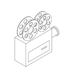 Video camera icon isometric 3d style vector