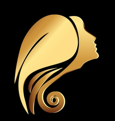 Woman face logo vector