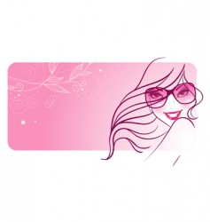women in sunglasses banners vector image vector image