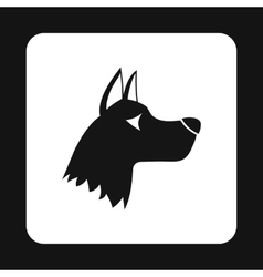 Doberman dog icon simple style vector
