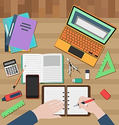 Student workplace vector