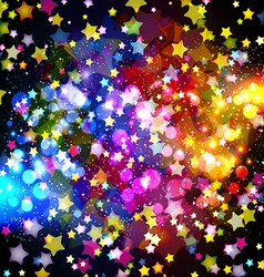 Bright colorful flying stars vector