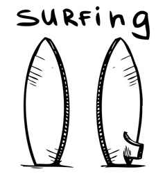 Surfing board vector