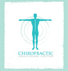 Chiropractic massage back pain and osteopathy vector