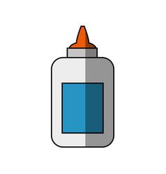 Bottle of glue vector
