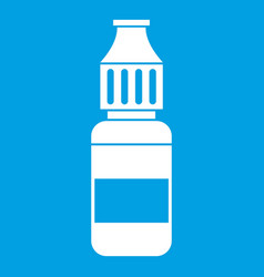 Liquid for electronic cigarettes icon white vector