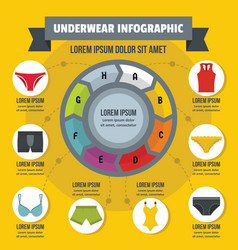 Underwear infographic concept flat style vector