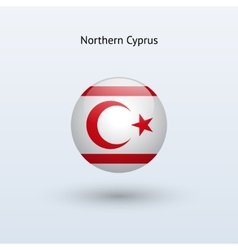 Northern cyprus round flag vector