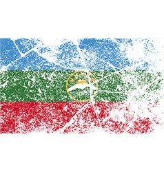 Flag of karachay-cherkessia republic russia with vector