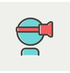 Virtual reality headset thin line icon vector