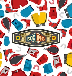 Boxing seamless pattern sports background boxing vector