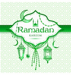 Ramadan kareem abstract green background vector