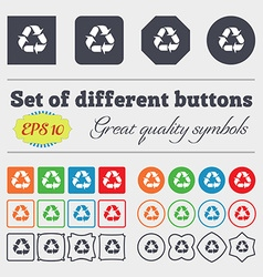 Processing icon sign big set of colorful diverse vector