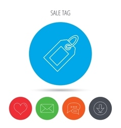 Sale tag icon price label sign vector