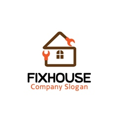 Fix house design vector