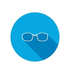 Eye glasses optical glass appliance for vision vector