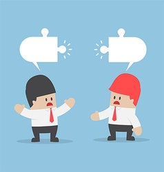 Businessmen have different opinion vector