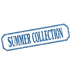 Summer collection square blue grunge vintage vector