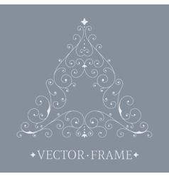 Elegant luxury floral frame vector