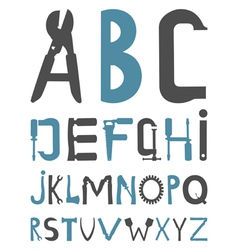 alphabet tools vector image vector image