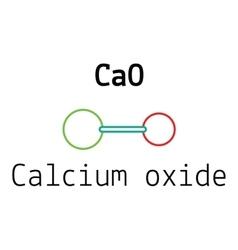 Cao calcium oxide molecule vector