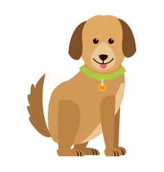 cartoon dog animal pet family image vector image vector image